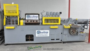 Used Lewis Wire Straightening And Cut Off Machine With Barfeed