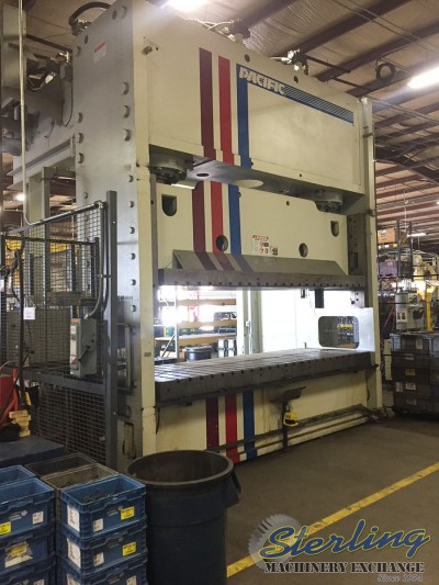 Used Pacific Hydraulic OBL Open Back Long Straight Side Hydraulic Press (Like New)